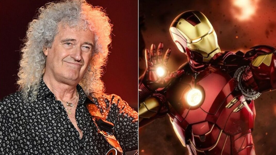 Queen's Brian May and Marvel's Iron Man