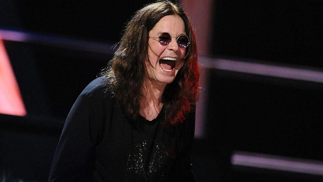 Ozzy Osbourne laughs