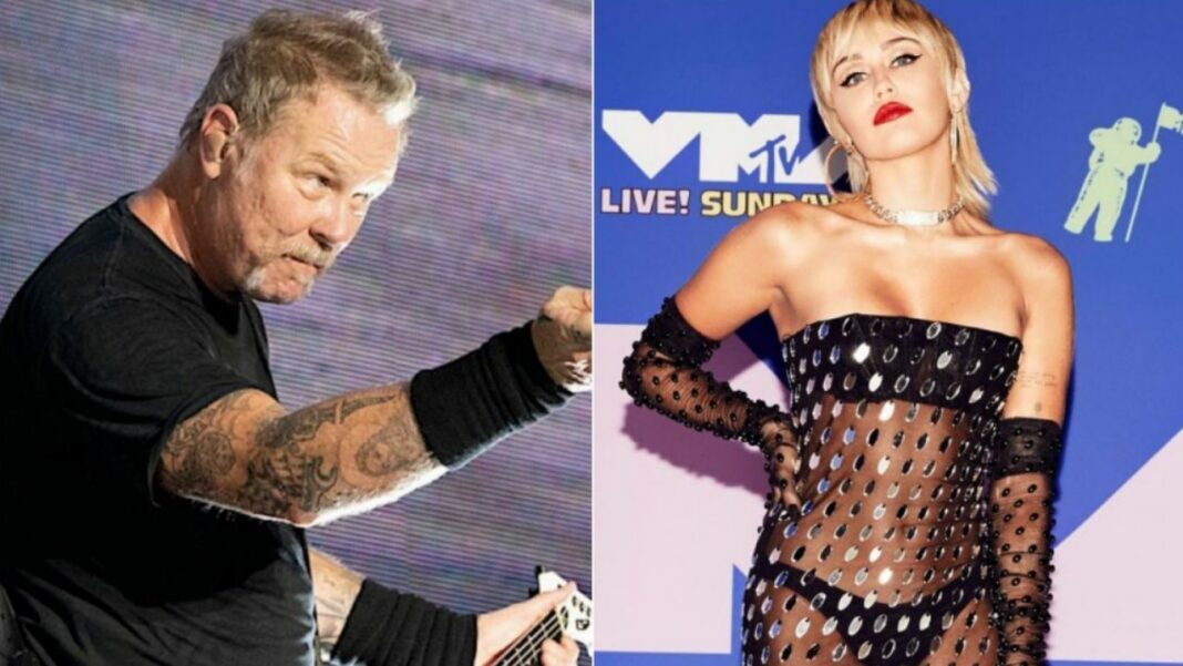 Metallica and Miley Cyrus Collabs For The Howard Stern Show